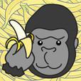 ゴリラがバナナを捕るシンプルゲーム もっとモリモリゴリゴリ
