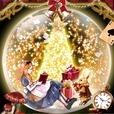 アリス in クリスマス 時計付きライブ壁紙
