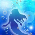Silhouette of Mermaid ライブ壁紙