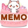 メモ帳・スイーツ 関西弁にゃんこ かわいいメモ帳アプリ無料