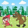 赤ずきんと迷いの森 - 2人で協力もできる 倉庫番 パズルゲーム