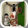 脱出ゲーム Santa Claus 暖炉とツリーと雪の家