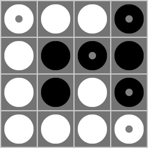 陰陽パズル - 白黒の脳トレパズル