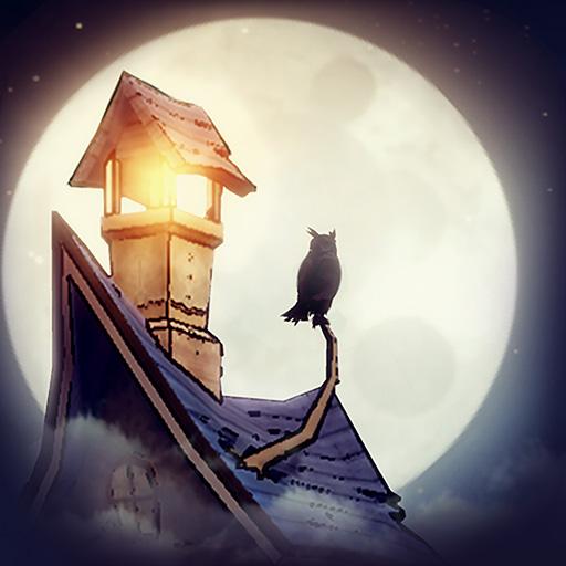 フクロウと灯台