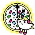 豆しぱみゅぱみゅ時計ウィジェット[3]