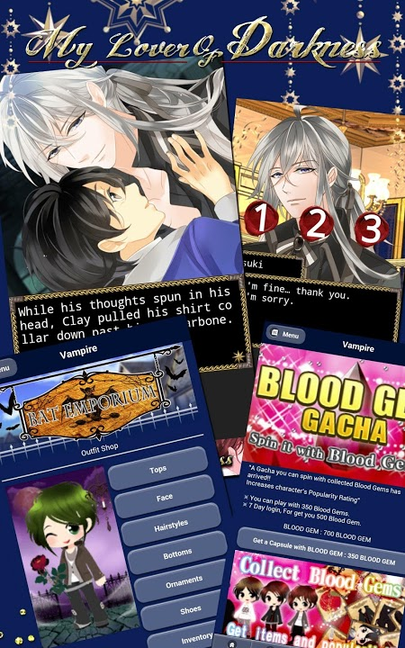 Vampire Darling【BL,yaoi game】のスクリーンショット_4