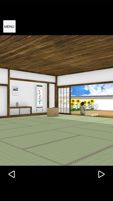 脱出ゲーム Obon ひまわり溢れる田舎の古民家のスクリーンショット_4