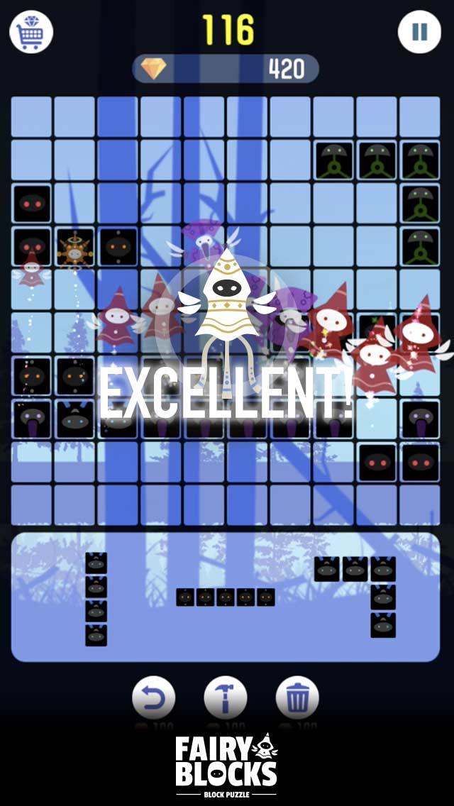 頭が良くなる ブロック パズル ゲーム FairyBlocksのスクリーンショット_4