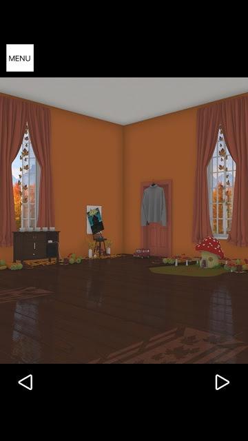 脱出ゲーム Autumn 紅葉とキノコとリスの家のスクリーンショット_2