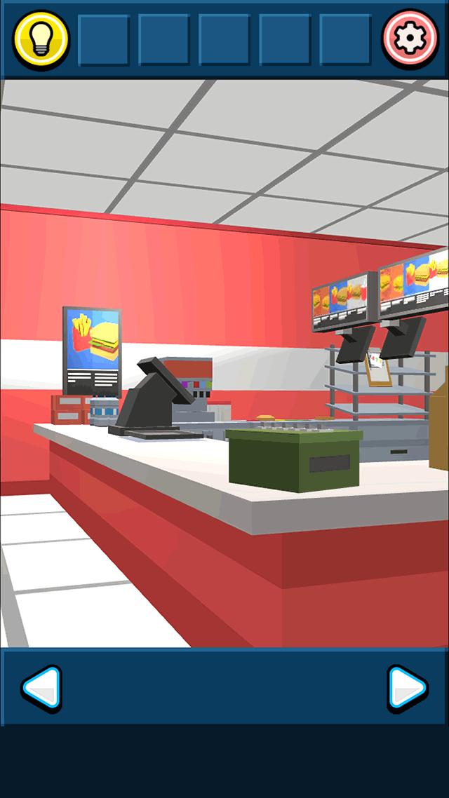 ハンバーガーショップからの脱出のスクリーンショット_1