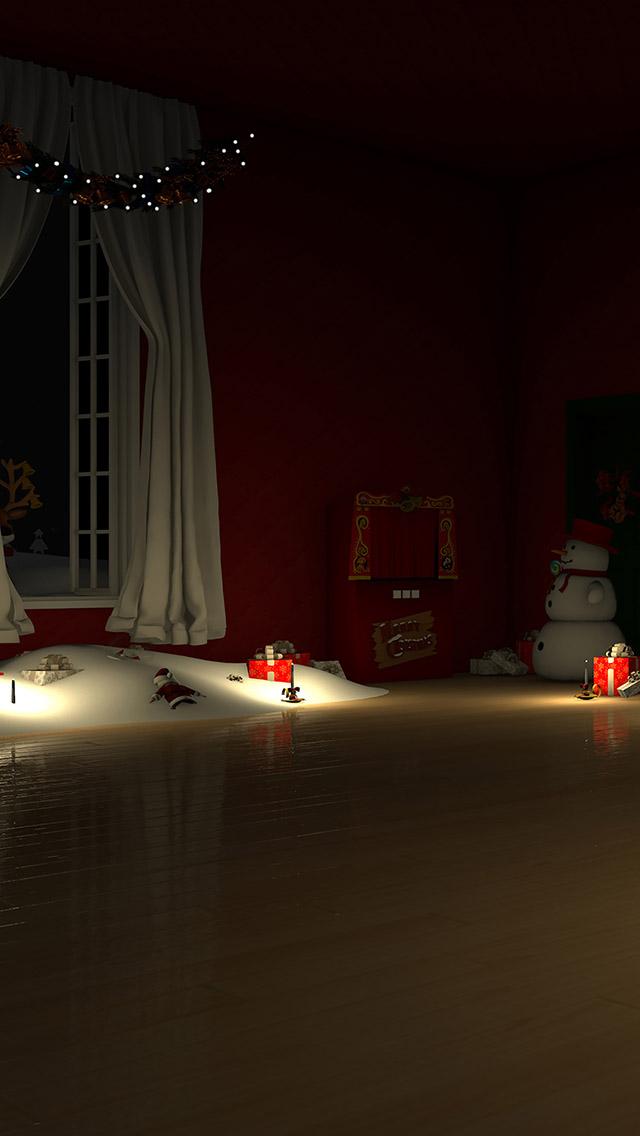 脱出ゲーム Santa Claus 暖炉とツリーと雪の家のスクリーンショット_1