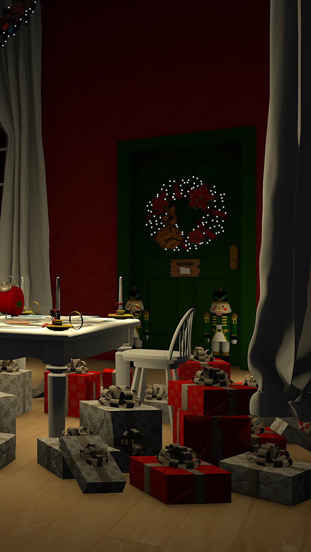 脱出ゲーム Santa Claus 暖炉とツリーと雪の家のスクリーンショット_3