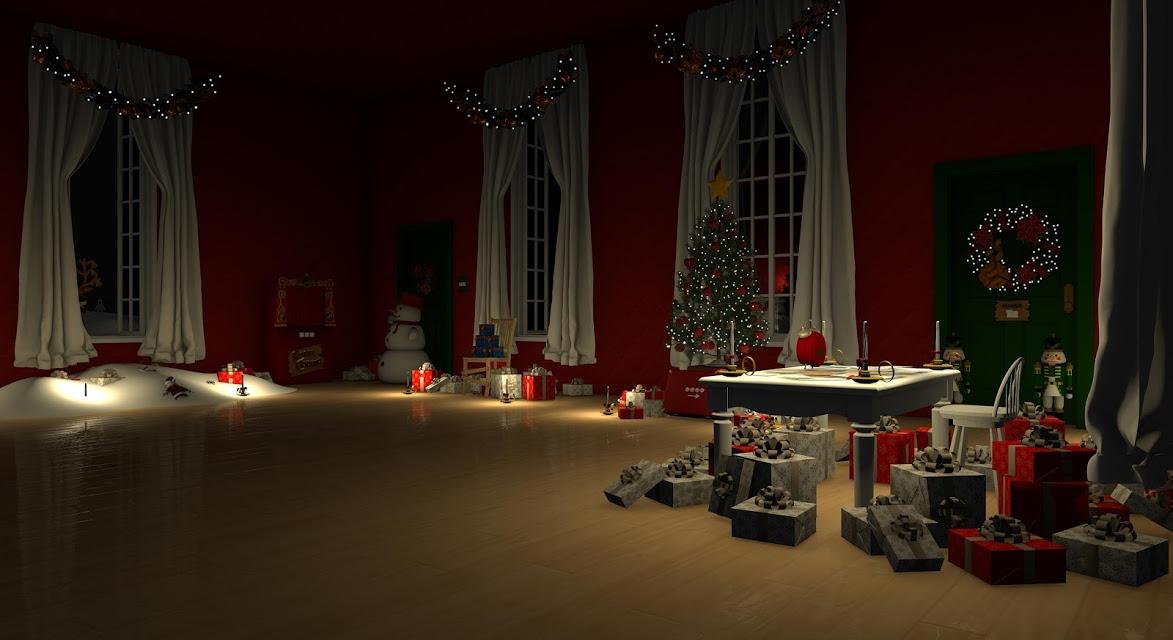 脱出ゲーム Santa Claus 暖炉とツリーと雪の家のスクリーンショット_2