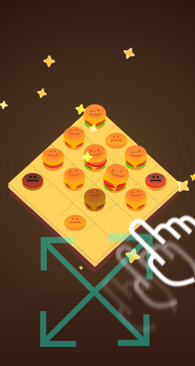 中毒パズル ハンバーガー2048のスクリーンショット_2