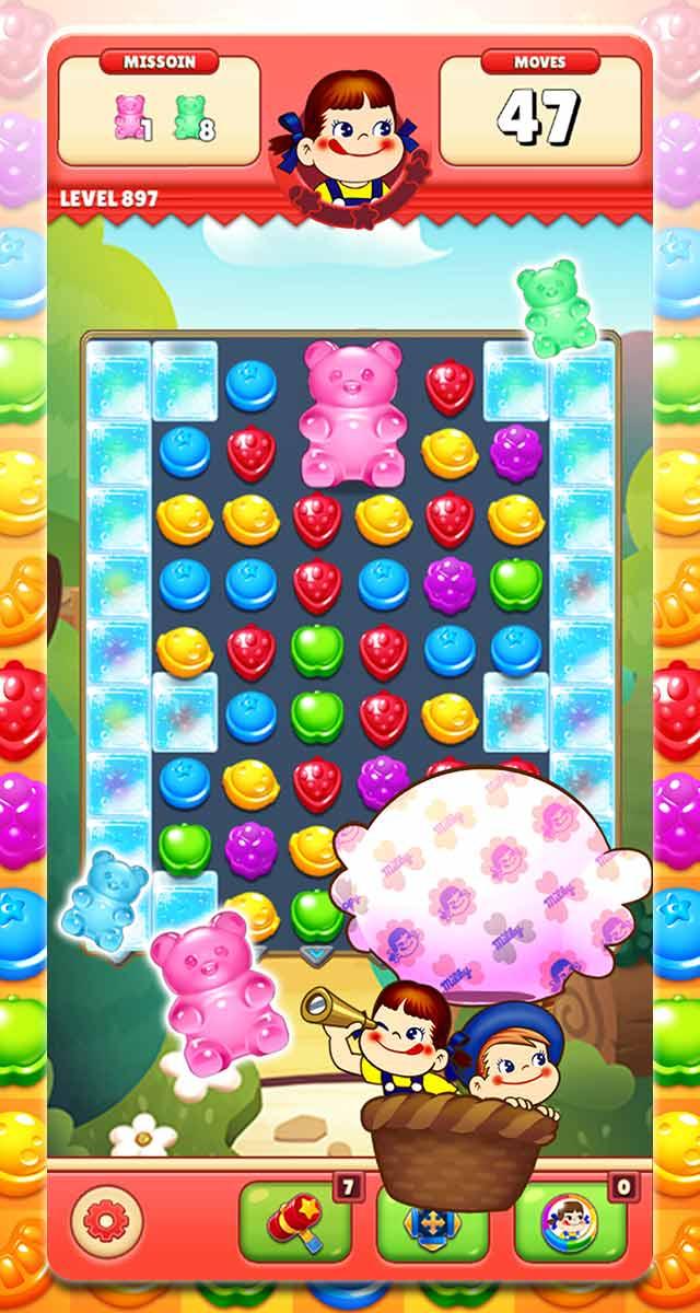 ミルキーマッチ:ペコちゃんパズルゲームのスクリーンショット_2