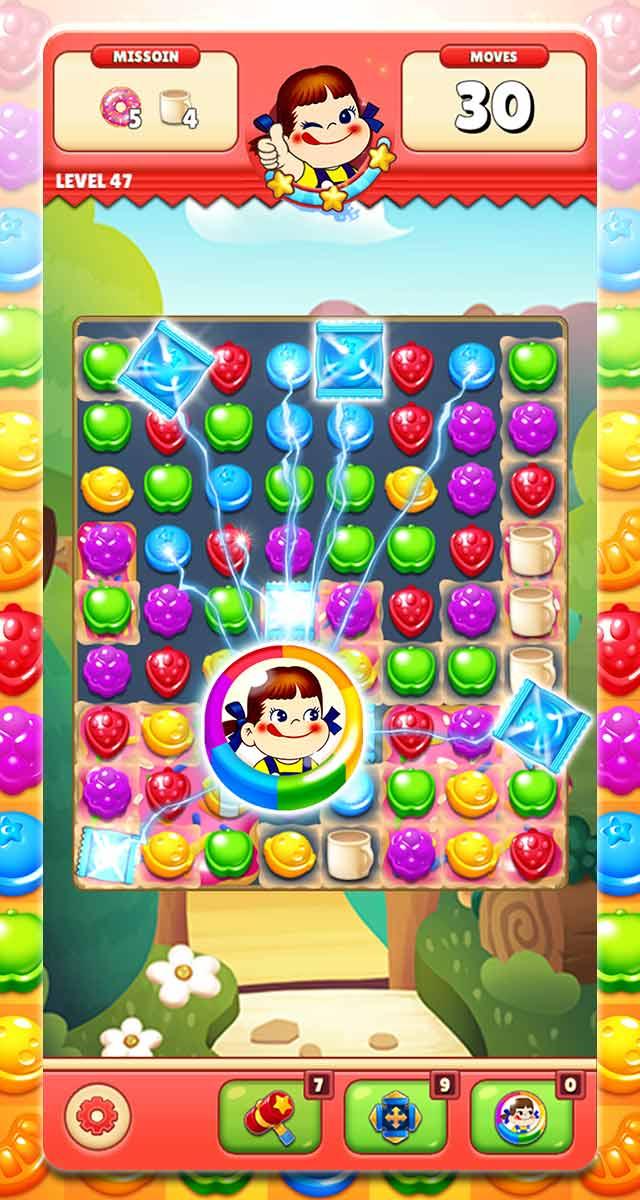 ミルキーマッチ:ペコちゃんパズルゲームのスクリーンショット_3