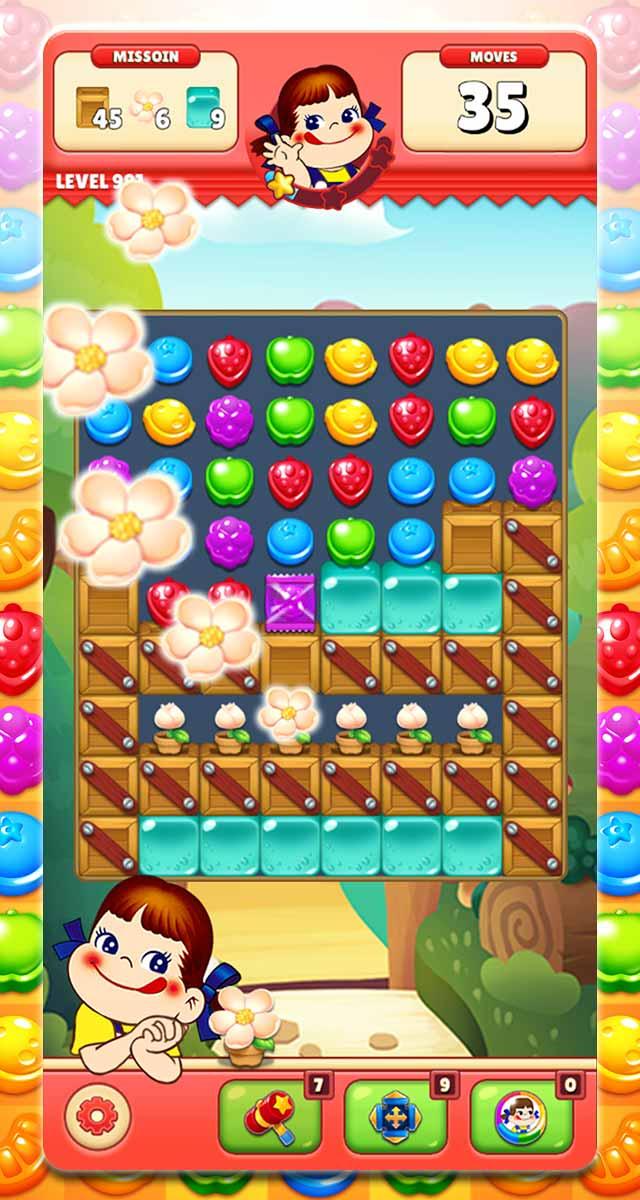 ミルキーマッチ:ペコちゃんパズルゲームのスクリーンショット_4
