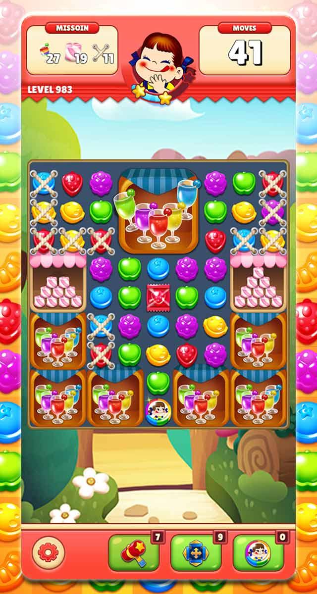 ミルキーマッチ:ペコちゃんパズルゲームのスクリーンショット_5