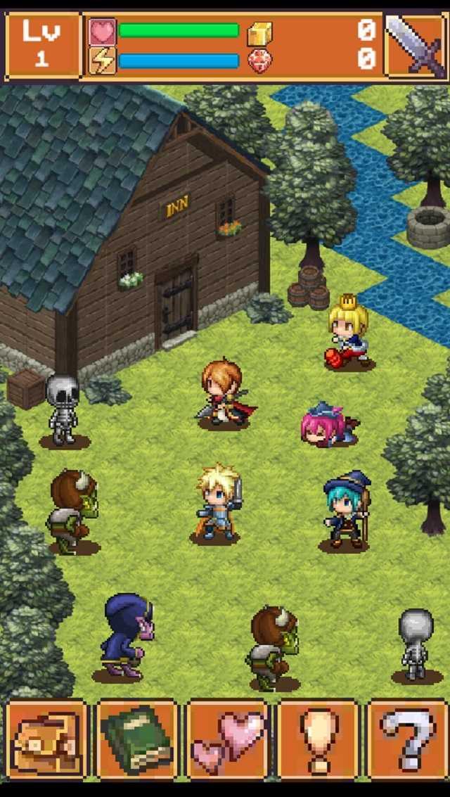 王道ワンタップRPG 「聖なる剣と魔神の塔」 のスクリーンショット_4