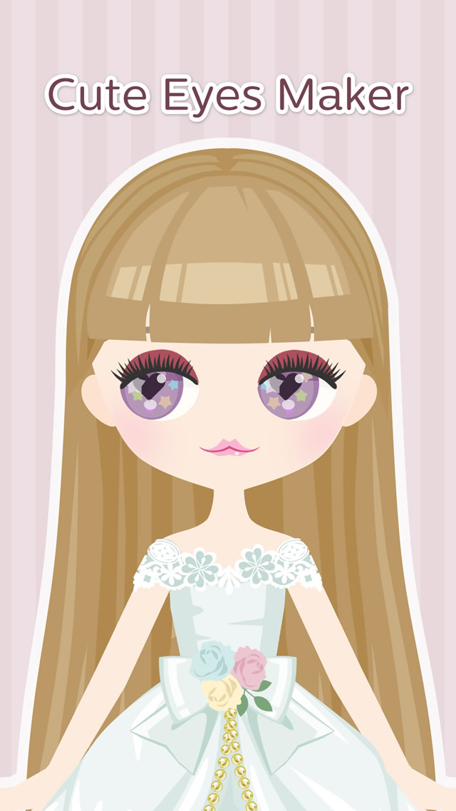 Cute Eyes Maker  - メイクアップゲームのスクリーンショット_1