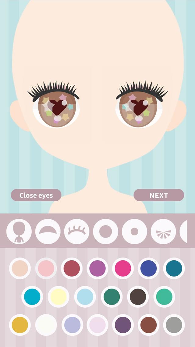 Cute Eyes Maker  - メイクアップゲームのスクリーンショット_2