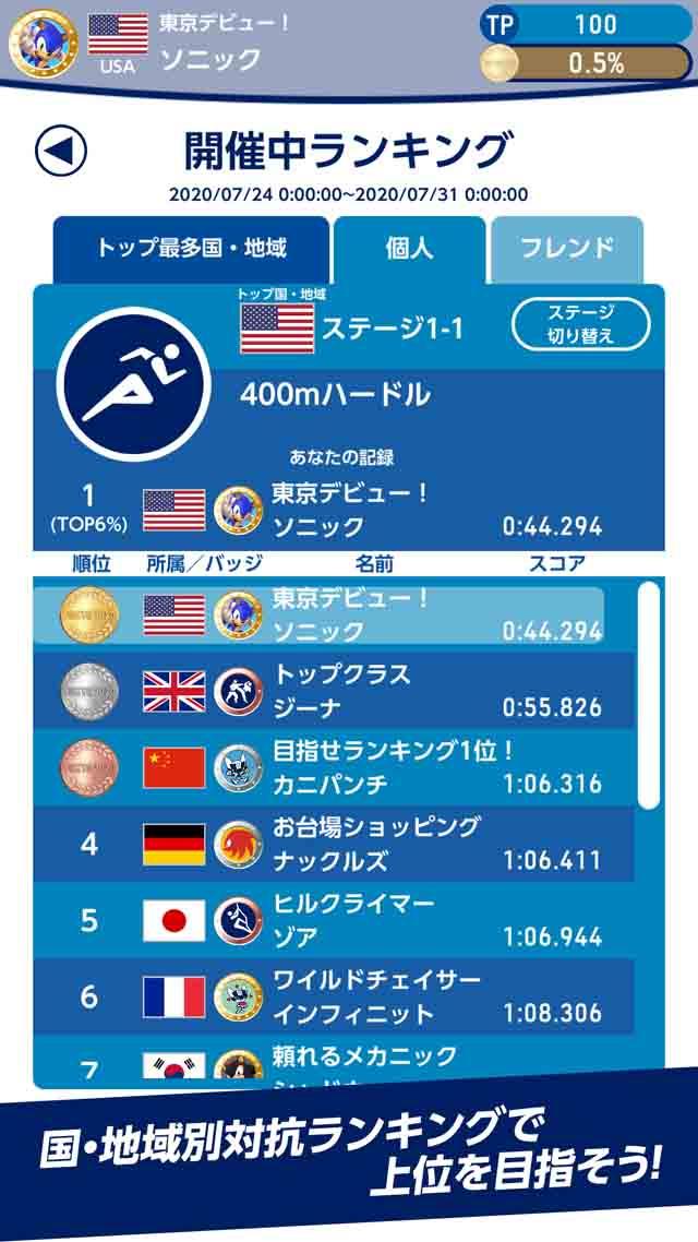 ソニック AT 東京2020オリンピックのスクリーンショット_4