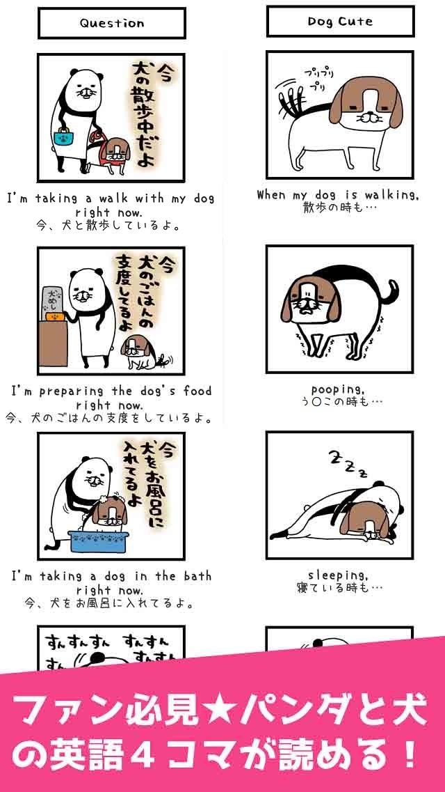 パンダと犬の英単語パズルのスクリーンショット_3