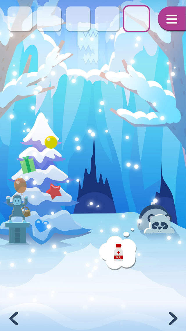 脱出ゲーム どうぶつと雪の島のスクリーンショット_4