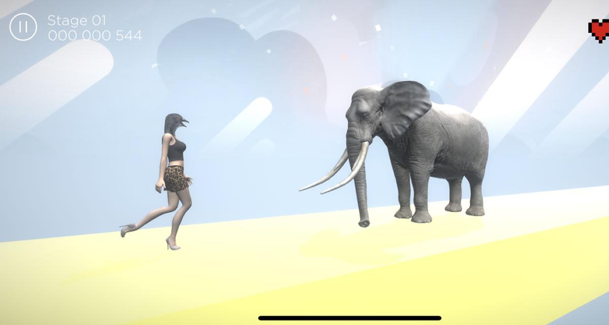 セクシーハトジャンプ とってもかわいいゲームのスクリーンショット_1