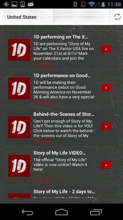 One Directionのスクリーンショット_3