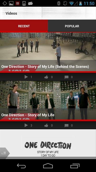 One Directionのスクリーンショット_5