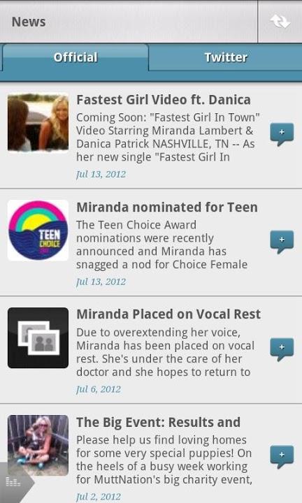Miranda Lambert Official Appのスクリーンショット_3