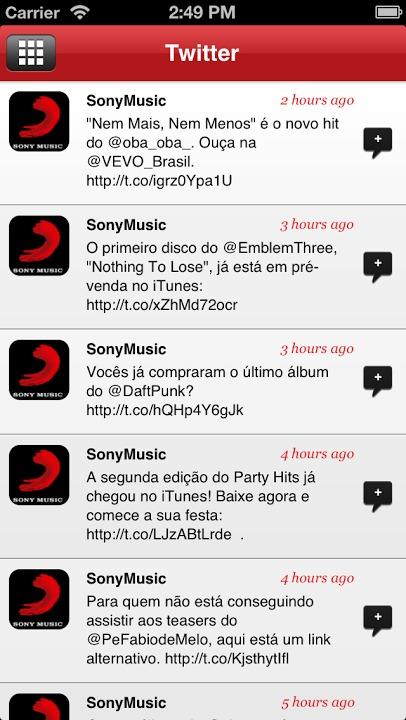 Sony Music Brasilのスクリーンショット_4