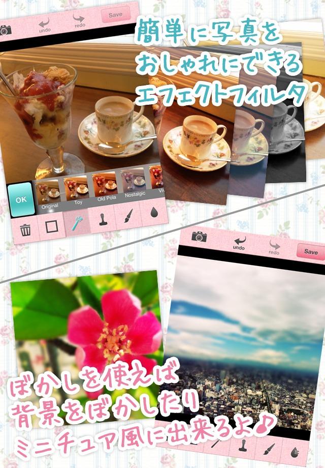 Picute - 写真をおしゃれにかわいくデコれるカメラアプリ -のスクリーンショット_3