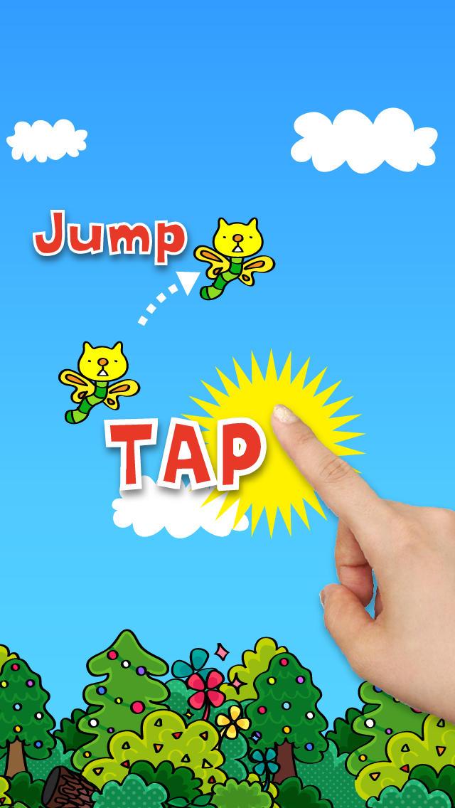 ねこむしそらをとぶ〜タップだけで遊べるやみつき無料ゲーム、かわいいにゃんこのキャラでひまつぶしのスクリーンショット_2
