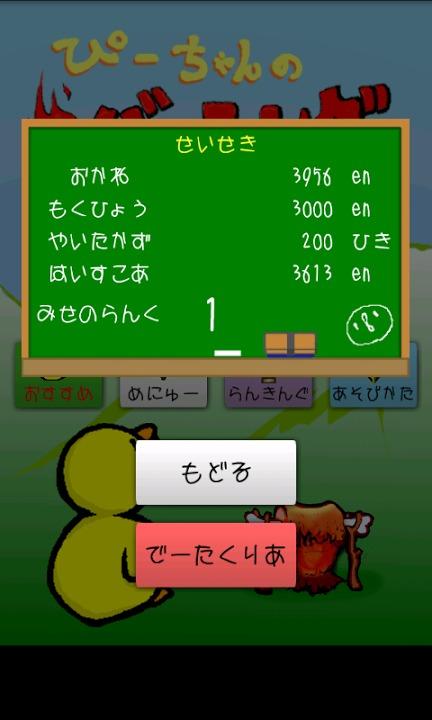 ぴーちゃんのバーニング! ~爆熱焼き鳥シューティング!~のスクリーンショット_3