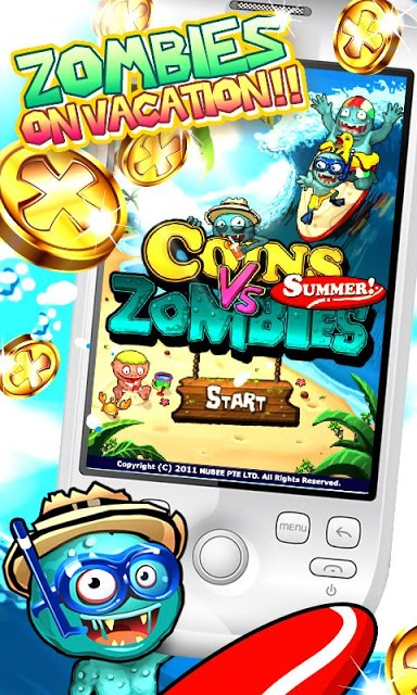 Coins Vs Zombies Summerのスクリーンショット_1