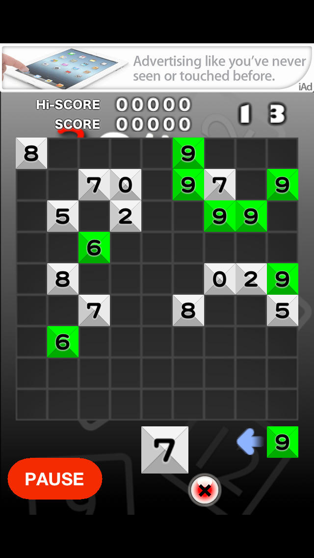 3の倍数と3のつく数字にするパズルのスクリーンショット_1