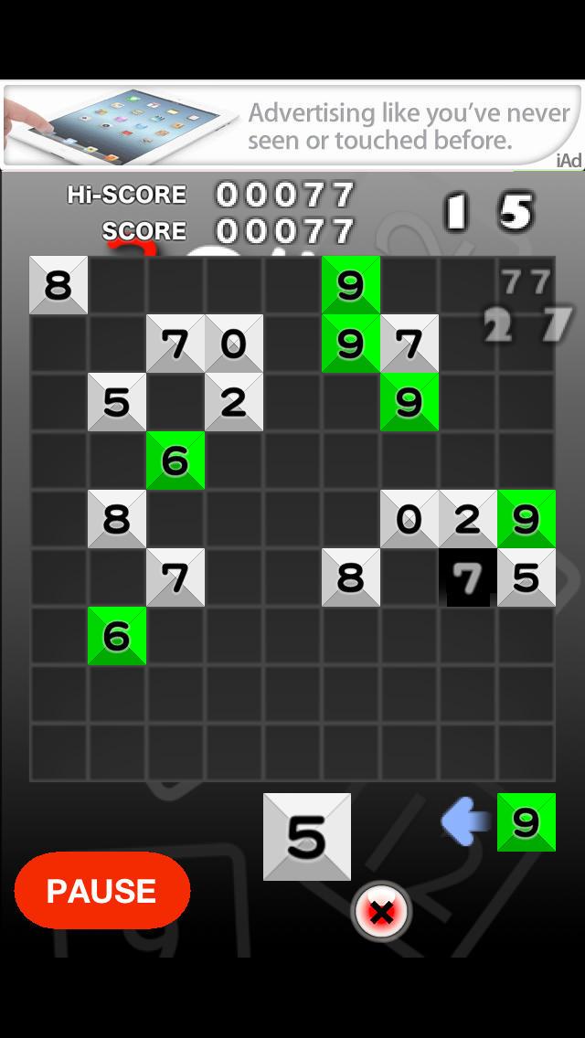 3の倍数と3のつく数字にするパズルのスクリーンショット_2