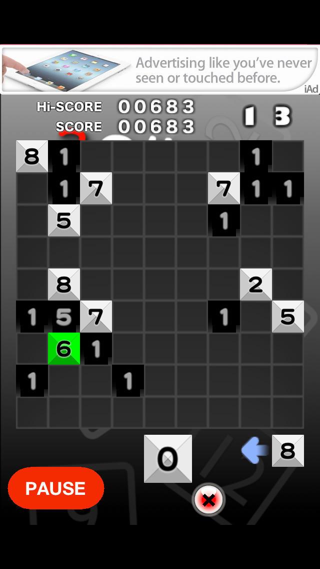 3の倍数と3のつく数字にするパズルのスクリーンショット_3