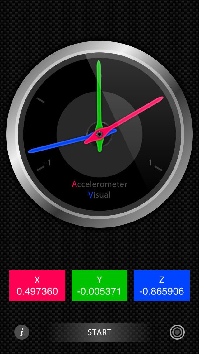 加速度センサー Visualのスクリーンショット_2