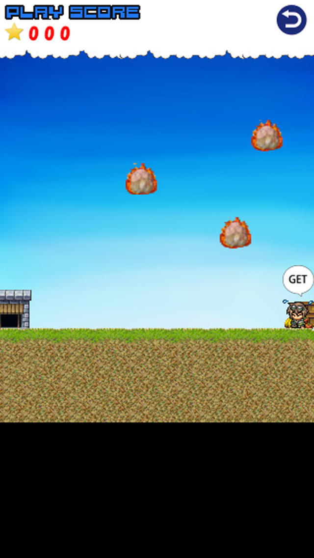 メテオストライク -簡単操作な回避アクションゲーム-のスクリーンショット_3