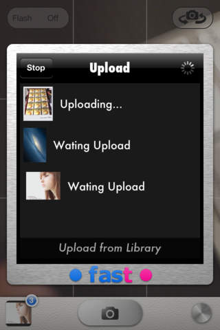 Fast Flickr-自動アップロードカメラ-のスクリーンショット_2