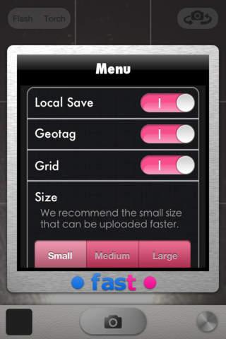 Fast Flickr-自動アップロードカメラ-のスクリーンショット_3