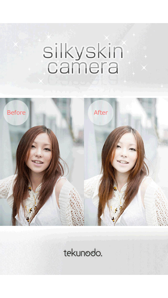 シルキースキンカメラ 美肌・美白加工カメラアプリ無料のスクリーンショット_2