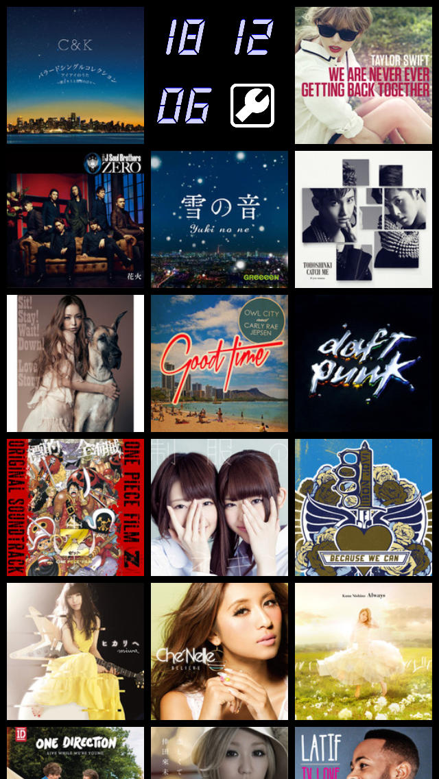 Artwork Clock 新曲チェック連続試聴対応のスクリーンショット_1