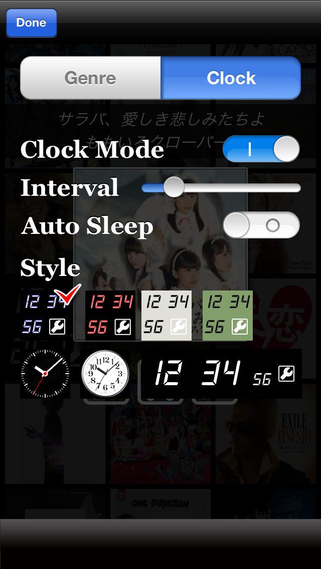 Artwork Clock 新曲チェック連続試聴対応のスクリーンショット_4
