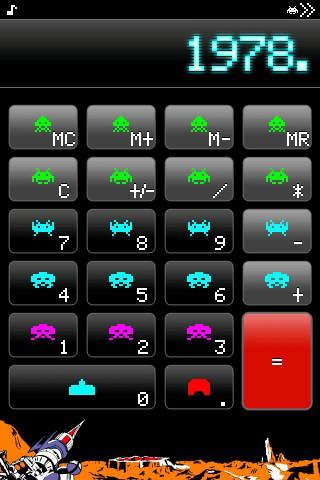 スペースインベーダー電卓-FREE-のスクリーンショット_1