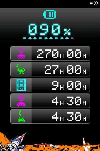 スペースインベーダー電池計のスクリーンショット_1