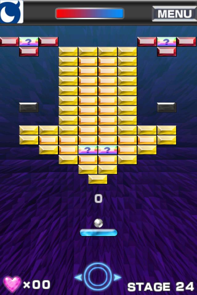 ブロック崩し for Mobage(モバゲー)のスクリーンショット_2